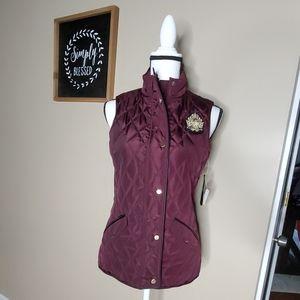 BNWT Ralph Lauren Quilted Vest in plum